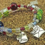 Silver Beaded Adoption Story Bracelet