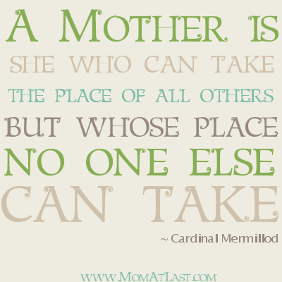 Mothers Place Quote